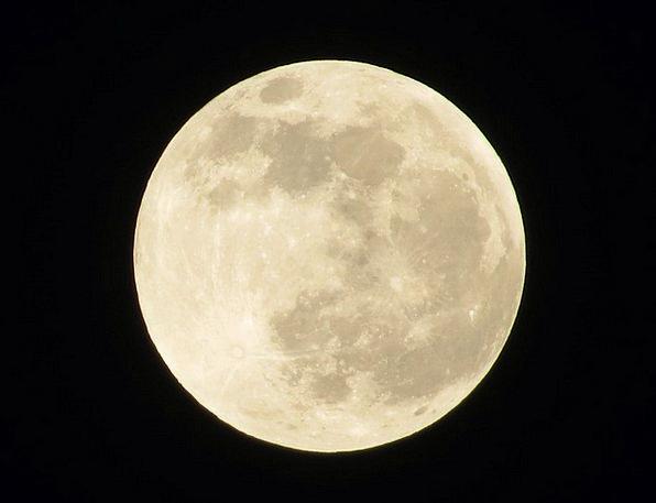Full Moon Romanticize Night Nightly Moon Sky Blue