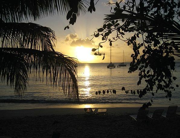 Sunset Sundown Vacation Marine Travel Sun Sea Refl