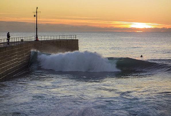Pier Dock Vacation Sundown Travel Wave Upsurge Sun