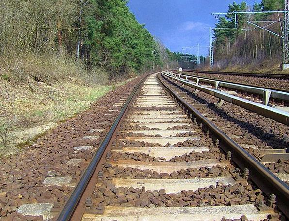 Rail Track Appeared Gleise Seemed Track Bed Gravel