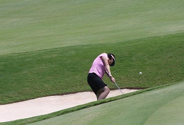 Golf Fashion Shelter Beauty Woman Lady Bunker Sand