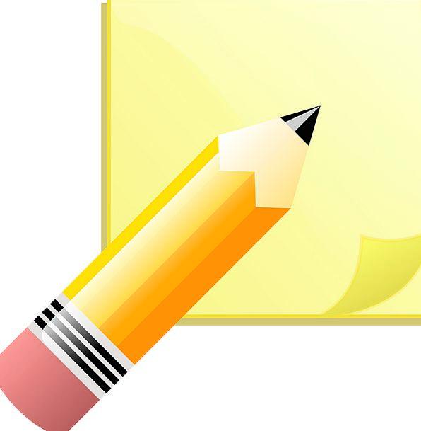 Note Letter Newspaper Pencil Write Paper Sticky Ta