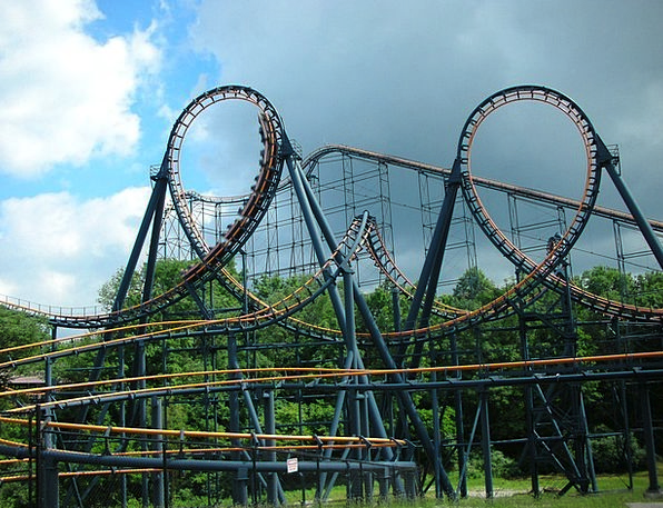 Roller Coaster Trip Amusement Laughter Ride Coaste