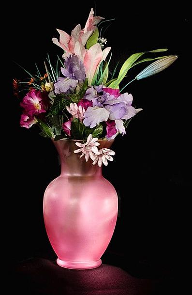 Vase Urn Floret Still-Life Flower Pink Flushed Bou