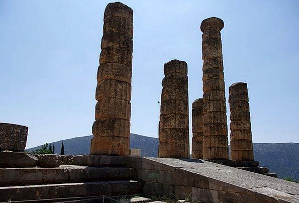 Delphi Excavations Digs Greece