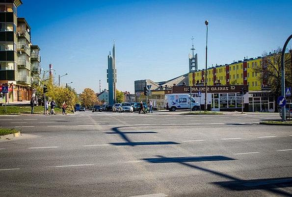 Street Road Traffic Urban Transportation Kielce Ci