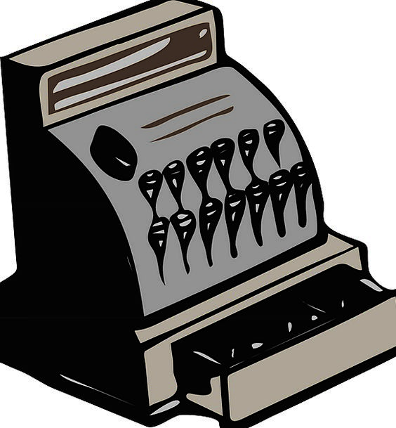 Cash Register Till Finance List Business Retro Per