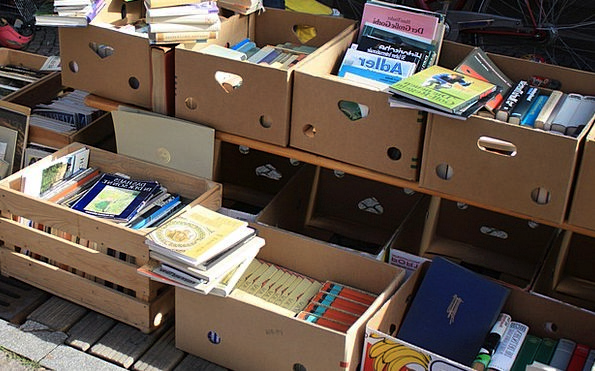 Flea Market Market Records Box Container Books Bro