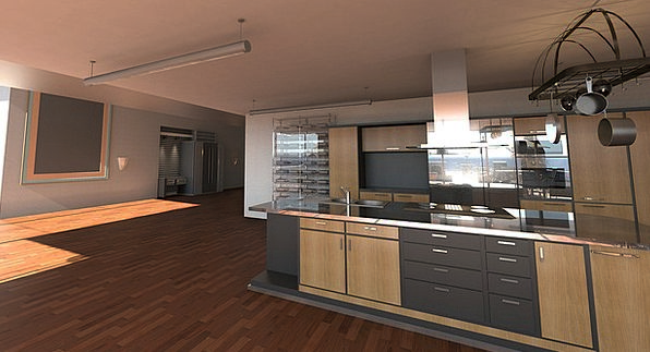 Kitchen Kitchenette Buildings Area Architecture Mo