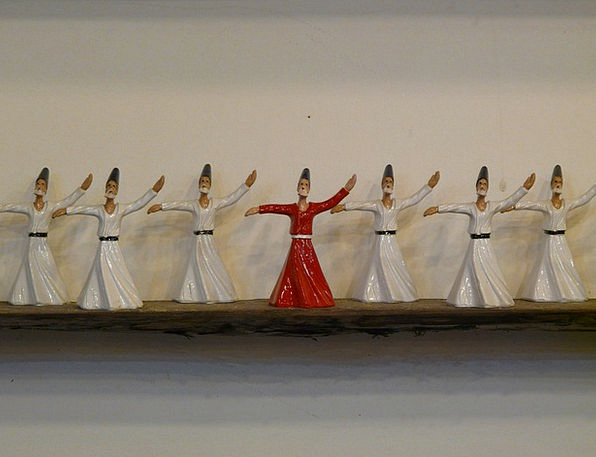 Dervishes Statistics Ceramic Earthenware Figures D