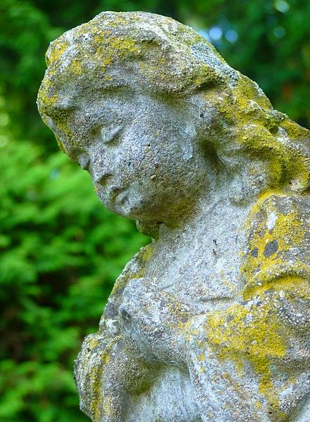 Stone Figure Pebble Girl Lassie Stone Statue Figur