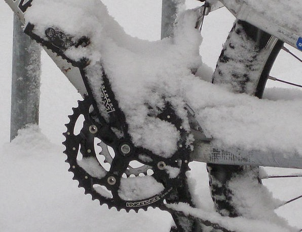 Mountain Bike Motorbike Snowed In Snowbound Bike S