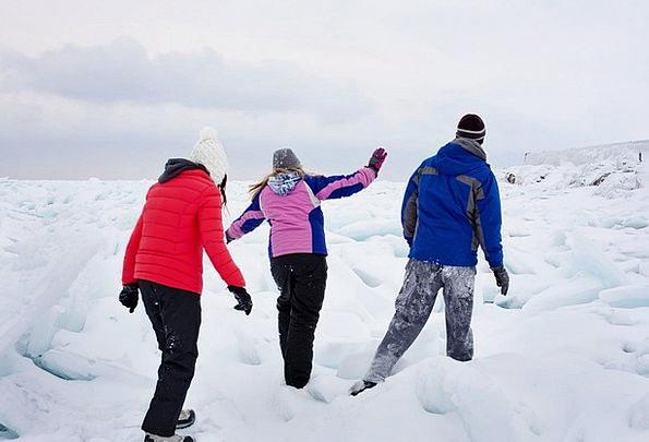 Lake Huron Ice-covered People Public Frozen Lake I