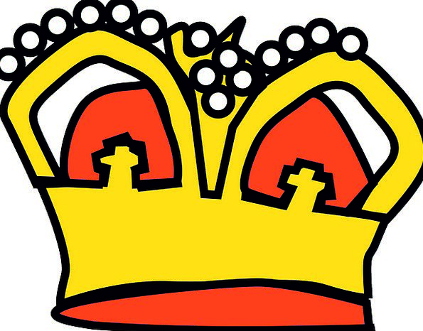 Crown Top Queen King Majestic Prince Leader Golden
