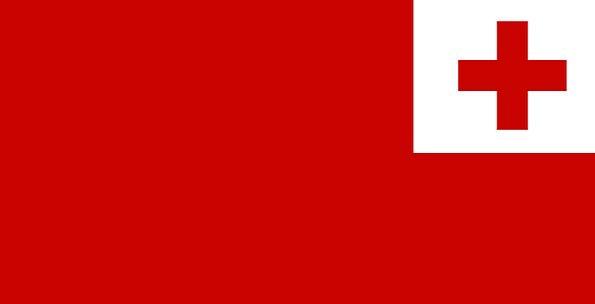 Flag Standard Oceania Tonga Civil Polynesia Cross