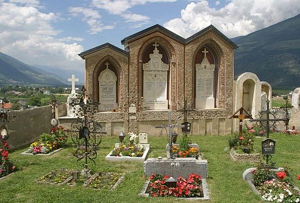 Crypt Vault South Tyrol Grave Stones Val Venosta C