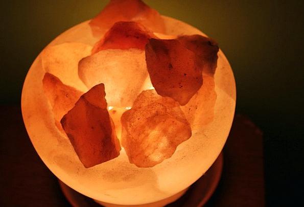 Salt Crystal Uplighter Crystals Minerals Lamp Salt