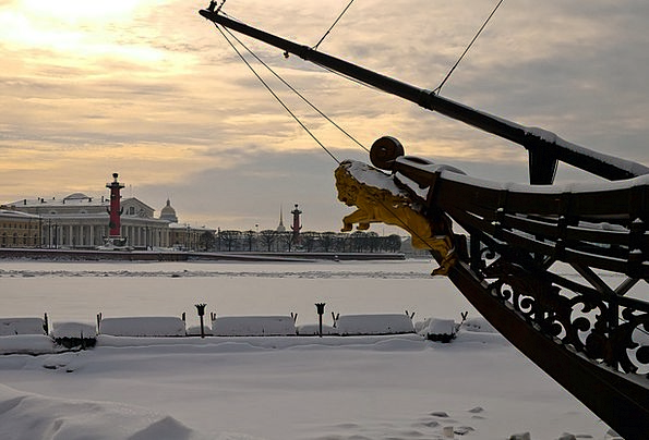 St Petersburg Russia Arrow Missile Vasilievsky Isl
