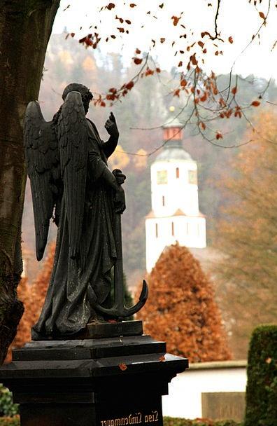 Angel Seraph Figurine Cemetery Graveyard Statue Bl
