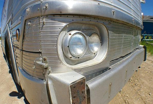 Headlight Car Chrome Bus Old Bus