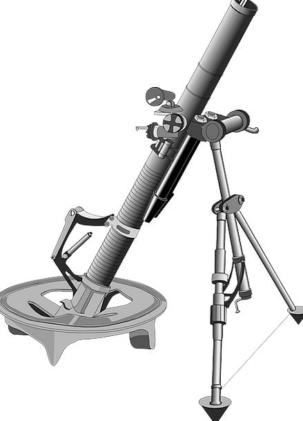 Projectile Missile Grout Weapon Armament Mortar Fr