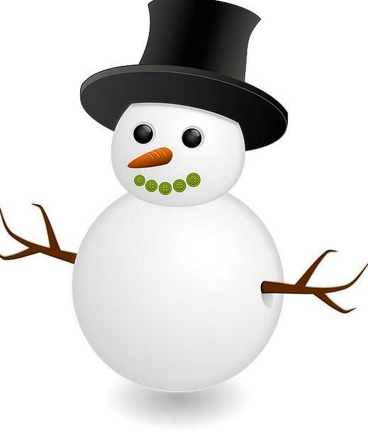 Snowman Period Holiday Break Season Card Xmas Snow