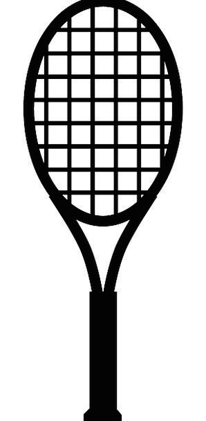 Badminton Racket Black Dark Bat Black And White Ra