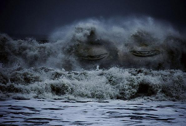 Waves Surfs Marine Face Expression Sea Sun Buddha