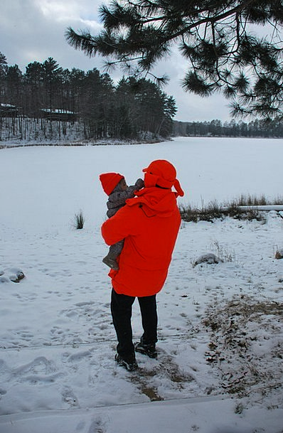 Baby Darling Outdoor Outside Infant Father Winter