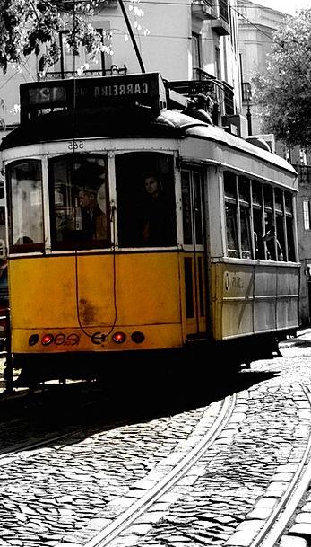 Tram Traffic Transportation Portugal Lisbon Transp