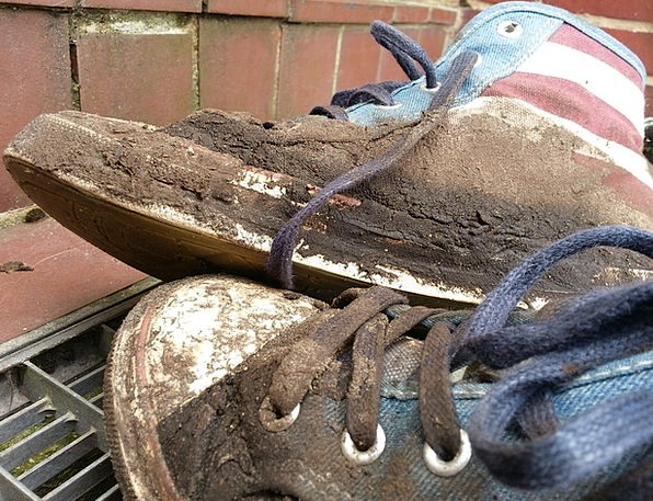 Sneakers Running shoe Grime Old Ancient Dirt Dirty