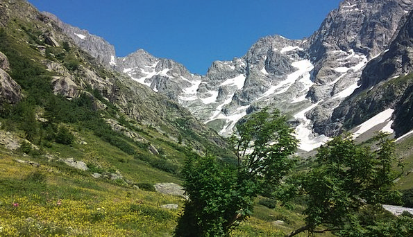 Mountains Crags Landscapes Scenery Nature Alps Lan