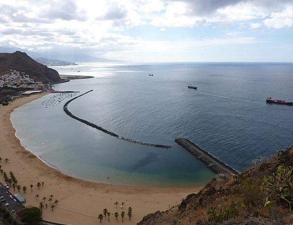 Tenerife Vacation Seashore Travel Teresitas Beach