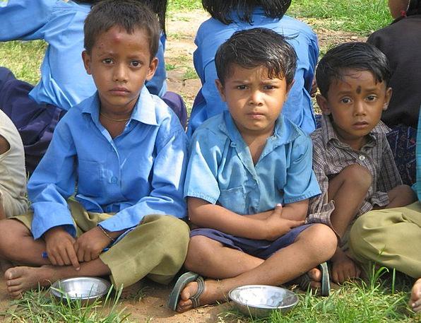 Kids Children Broods Rajasthan Indian Meal Baran H