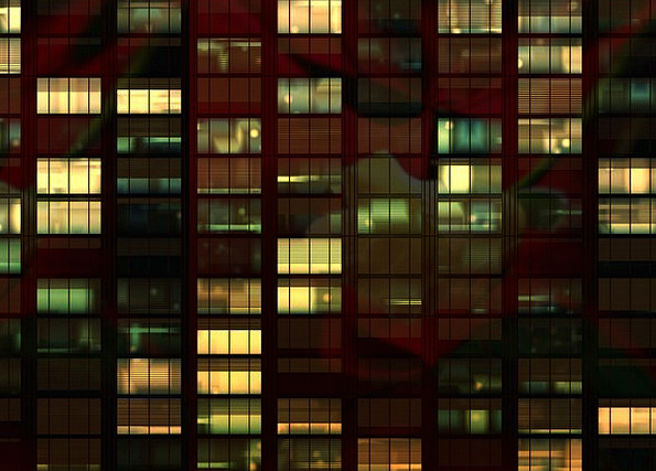 Office Workplace Night Nightly Office Building Beh