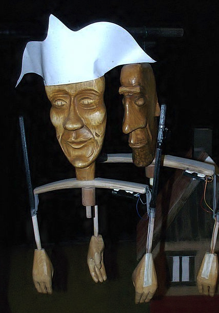 Puppets Marionettes Timber Theater Playhouse Woode