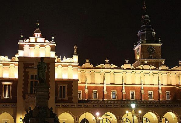 Town Urban Buildings Architecture Krakow City Main