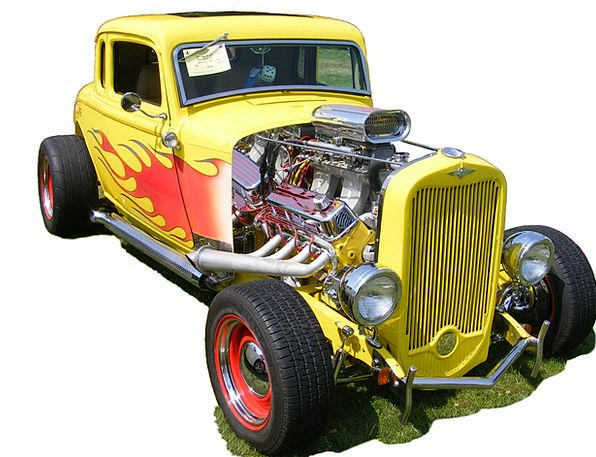 Hotrod Traffic Transportation Coupe Car Plymouth A