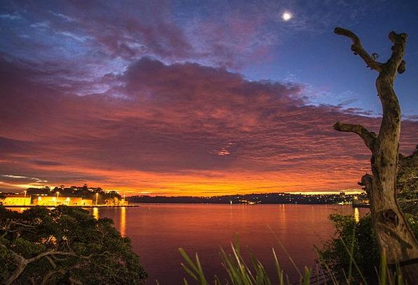 Sea Marine Vacation Travel Sunset Sundown Ocean De