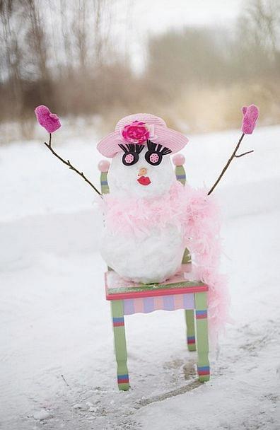Snow Woman Snow Man Snowman Snow Snowflake Winter