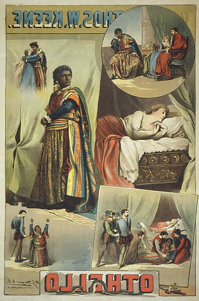 William Shakespeare Poster Picture Othello 1884