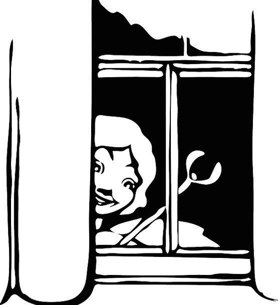 Fairy Pixie Gap Peeking Glancing Window Peek Look