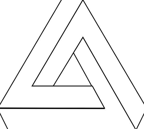 Optical Illusion Threesome Puzzle Mystery Triangle