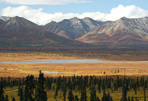 Alaska Landscapes Wasteland Nature Mountains Crags