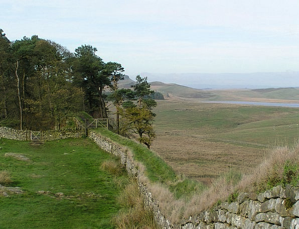 Hadrian'S Wall Landscapes Nature Countryside Scene