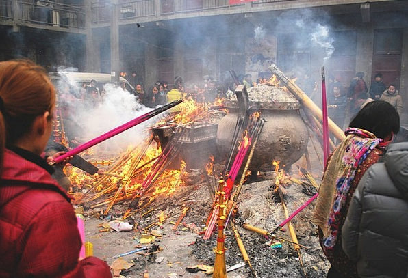 Incense Anger Shrine Buddhist Temple Fire Passion