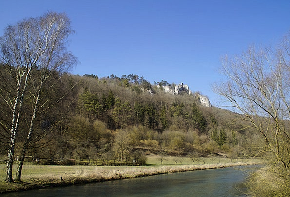 Russians Castle Landscapes Nature Swabian Alb Blau