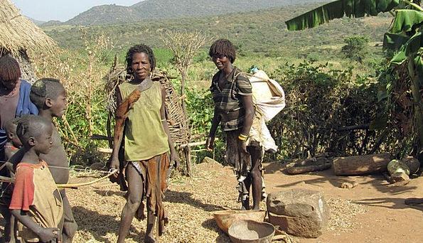 Benna Family Domestic Ethiopia Tribe People Farm F