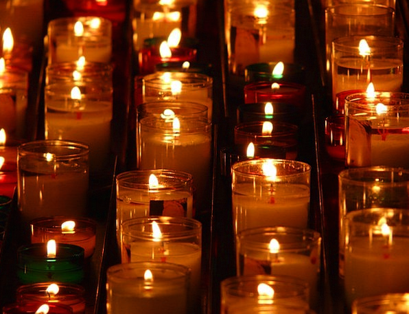 Candles Tapers Flame Blaze Memorial Lights Prayer