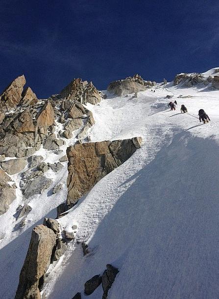 Mountain Crag Landscapes Snowflake Nature Aiguille